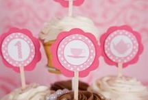 Tea party- Girls Birthday / Throw your little girl her perfect tea party. For more inspiration and decorations check out www.etsy.com/getthepartystarted / by Custom Party Shop- Party decorations