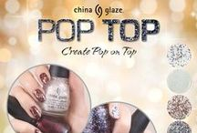 China Glaze - Pop Top / GLITTER MAKES EVERYTHING BETTER Top off your nails with the China Glaze® Pop Top Collection  Available August 2014