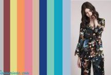 Pantone Spring  Summer Colors 2015 / Pantone Strawberry Ice, Scuba Blue, Aquamarine, Lucite Green, Classic Blue, Toasted Almond, Tangerine, Custard, Marsala, Glacier Gray / by Tina Boomerina - Baby Boomer Chick