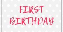 First Birthday Outfit / Onesies and shirts to celebrate your little one's first birthday!
