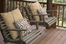 Love Porch Swings / by Barb Triplett-Brown