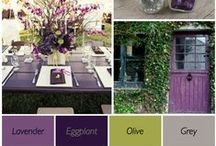 Lucious Color Palettes / Multi-dimensional color palettes make for the most elegant of events.