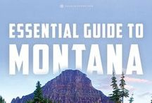 Montana // Travel & Vacation Guide & Ideas / Big Sky country is wild with Glacier and Yellowstone National Parks.