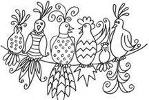 Divertirse Coloreando no es solo para niños ☺ !!! / Dibujitos para iluminar con colores....y tambien para bordar...porque no? / by Marta Maria Allen