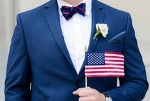 Fourth of July Wedding Inspiration / Red, white and beautiful! Decor, games, food ideas and cocktails for your Fourth of July wedding!
