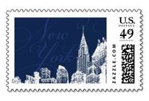 Postage Stamps / Custom designed zazzle postage stamps by New York based wedding invitations studio, Atelier Isabey