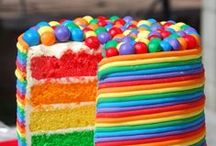 Rainbow Party / Rainbow cakes, DIY, and many more ideas! mailboxhappiness.com