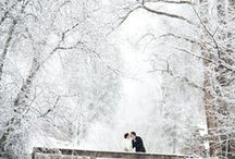 Seasonal: Winter Weddings / Winter wonderland and winter inspired wedding inspiration and moodboards