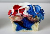 Red, White, and Blue / Patriotic recipes, items, and decoration ideas for Fourth of July, Memorial day and every day