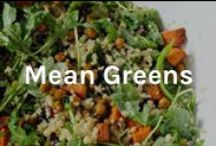Mean Greens / Healthy delicious food > cheeseburgers.