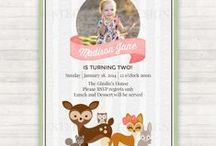 Woodland Animals Birthday Party / Fox and woodland animals party planning
