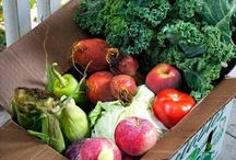 CSA or Farmers Mkt / Vegetables and farm fresh eggs and home canned foods that are delivered fresh to our door by Farmer Mike / by Charlotte Schaefers