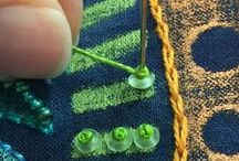 Paint, Stitch, Bead / Great ways to embellish fabric after it is painted!
