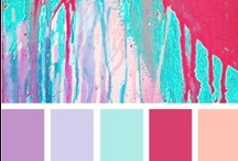 Color Palettes / Color combinations for home and art making. Visit us at www.retrofitstyle.com and our Etsy store at www.etsy.com/shop/RetrofitStyle.