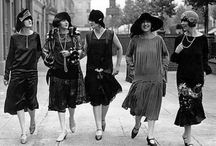 Flapper, Charleston, Gatsby Era...  dresses, accessories etc... / Also Valentino, Diaghilev, diff French Era's ...and more modern look a likes... 1910's to 1950's for now