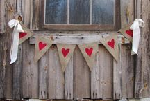 Banners, bunting, garlands