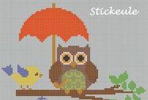 Uiltjes/ owls cross stitch