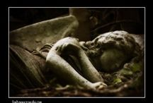 NECROPOLIS: Cemetery sculptures / I'm a taphophile - always have been.  I've been photographing cemeteries for nearly 8 years and some of my photographs are slowly being shared here: http://londonnecropolis.wordpress.com