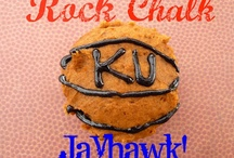 Rock Chalk Jayhawk! / All things red and blue, rock chalk, go KU! / by Cookin' Cowgirl {Steph}