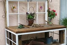 Garden: Potting Benches / Garden Potting Benches and Work surfaces/spaces