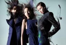 Ming Xi, Xiao Wen & Wang Xiao for Lane Crawford's Fall 2012 Campaign by Nick Knight