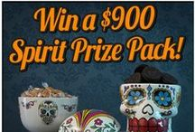 "Evil Pins Pinterest Sweepstakes / Fill out the entry form at Contests.Piqora.com/EvilPinsSweepstakes, then create an ""Evil Pins"" board and pin items inspired by SpiritHalloween.com! Five lucky winners will receive a Spirit Prize Pack worth over $500 and one lucky Grand Prize winner will receive a Spirit Prize Pack worth over $900! / by Spirit Halloween"