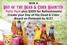 Day of the Dead & Cider / Day of the Dead décor and delicious treats for the Halloween season! Make your own Day of the Dead & Cider board then enter here for a chance to win a party pack worth over $500: http://bit.ly/1LYkovA / by Spirit Halloween