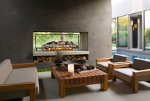 Modern Zen with BBQ fire place living wall ,hotub ...