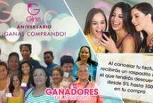 #AniversarioGina / Todos los raspaditos están premiados y TU PUEDES SER LA PRÓXIMA GANADORA / by Tiendas Gina
