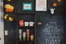 Chalk It Up / Do away with throw-away paper reminders and replace them with a fun and stylish chalkboard. Available as framed pieces for your walls or easy-to-place decals, these blackboards create the perfect spot for jotting things down. http://www.hayneedle.com/stylists/trend-watch_3/styleboards/chalk-it-up_571 / by hayneedle.com
