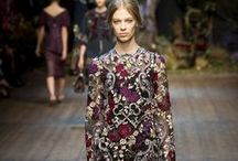 Moody Blooms AW14 / This season's catwalk was enriched with a blossom of dark florals and burgundy tones. http://www.maryjanefashion.com/trends/moody-blooms.html