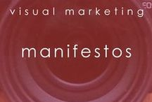 manifestos / whether you want to call them manifestos or something else, these are great ways to share your brand message, your brand promise, or what it is you stand for.  #visualmarketing