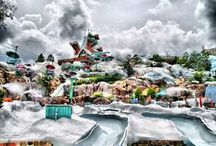 Disney Water Parks / Disney boasts some of the most immersive and richly themed water parks in the world. Dive into this collection of images from Typhoon Lagoon, Blizzard Beach and the now-closed River Country. / by Rob Yeo