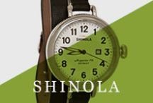 Shinola / Shinola timepieces are made in Detroit, Michigan with the vision to define American luxury, through American quality. The watchmakers in Detroit build the Shinola watch not only for beauty and fashion, but also to last for many years. Shinola products also include men's and women's watches, leather goods, bicycles, and journals.