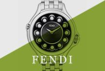 Fendi / With Swiss construction and FENDI distinction, the Crazy Carats watch keeps time as impeccable as its style. A new rolling gemstone mechanism initiated at the 4 o'clock crown changes the semiprecious markers for three different looks, anchored by a stationary diamond at 12 o'clock. Change the look of your watch in a matter of seconds, literally! Accessorizing an outfit has never been this easy!