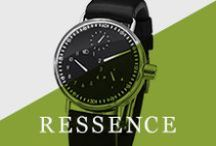 Ressence / The name RESSENCE is a portmanteau assimilating the words renaissance and essence, and stands for the rebirth of what is essential to a watch, to displaying time.