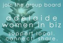 adelaide women in biz / this is a group board for women in biz who live in adelaide or in SA. the purpose is to connect with and support adelaide women in biz. DO: pin your images related to your business, your brand, your products & services, your promotions & event. DON'T: be spammy. no need to post multiple pins of the same thing!  TO JOIN: please send me a message on facebook or twitter @karengunton with your pinterest URL.  and PLEASE DO invite other adelaide women in biz to this board!