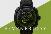 SevenFriday / Engineering, power, performance and efficiency are just some of the words that SevenFriday's timepieces draw inspiration from, and the result is clear in their collections. Observing machines at work, SevenFriday's P Series is a tribute to industrial engines, while the M Series is a love letter to the turbine.