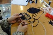 Wire framed headpieces
