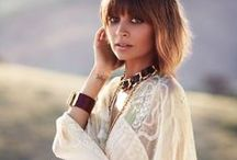 Boho babes / The muses who epitomize the free-spirited boho chic style.