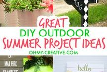 Back Yard Inspiration / Ideas to turn our back yard into an oasis. Some products I love and lots of crafts and DIY