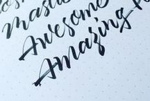 Typography | Calligraphy | Lettering