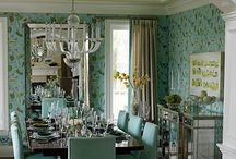 Dining Rooms / The Formal Dining Room, Grand Dining, Dining in style | collection of favorite pins Joyce Marsh Interior Designer | Florida Real Estate Broker wwwJoyceMarsh.com / by Joyce Marsh