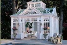 "Garden Structures / In the garden... Garden structures that enhance the garden | ""She-sheds"""