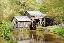 OLD GRIST MILLS / Down by the old mill stream. I have always loved old grist mills. At one time they were the center places for everyone to gather and share stories.