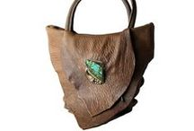 Ifania for Tom Taylor / This amazing artist uses vintage bolo ties to ornament her soft leather bags.
