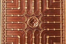 Coppers / Great uses of copper. Decor items and architectural elements / by Texas Lightsmith