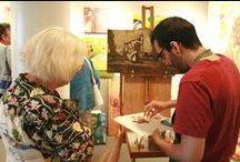 Past Artist Demonstrations / Chemers Gallery invited several of our local artists to demonstrate during the Enderle Center Summer Concert Series, held the third Thursday of every month June-September.