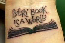 Literary Art & Tattoos / Various forms of art inspired by favorite writers, literary works, and love of reading/writing.