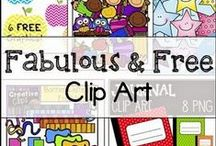 Fonts, Clips, & Borders- Oh my! / Mostly FREE clip art, borders, and papers. Check for commercial usage - many are  available for commercial use with credit given back. Fonts are now on their own board